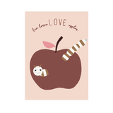 Kinderposter  Love Apples , 50 x 70 cm, von OYOY