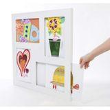 Vierfacher Bilderrahmen A4  Macro Gallery  für Kinderbilder, mit Aufbewahrungsfunktion, weiß, von Articulate Gallery