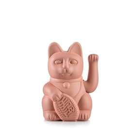 Dekorative Winkekatze  Lucky Cat , in der Farbe rosa, 10,5 x 10 x 16 cm, von Donkey