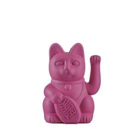 Dekorative Winkekatze  Lucky Cat , in der Farbe lila, 10,5 x 10 x 16 cm, von Donkey
