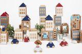 Kreatives Konstruktionsspielzeug Lubu Town  Winterburg Mini , 7 Teile,  aus Holz, von lubulona