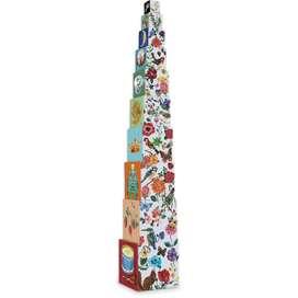 10 Stapelwürfel, aus Karton, Design Nathalie Lété für Vilac