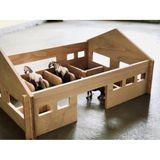 Toller Pferdestall  Happy Horses  aus Holz, 60 x 55 x 35 cm, made in Germany, von itkids