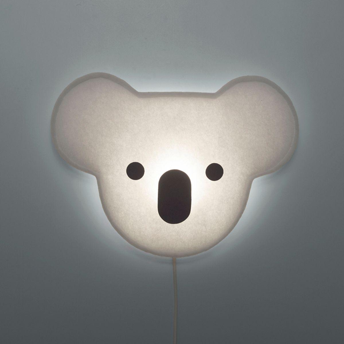 wandlampe koala mit kabel und stecker von buokids. Black Bedroom Furniture Sets. Home Design Ideas