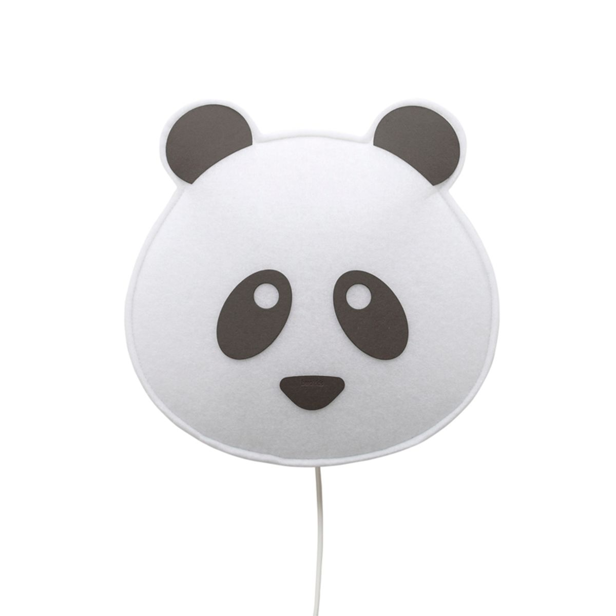 wandlampe panda mit kabel und stecker von buokids. Black Bedroom Furniture Sets. Home Design Ideas