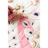 3in1 Spielmatte und Aufbewahrung im Kinderzimmer, Pfau, rosa, Soft, 120 cm, von Play&Go