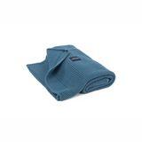 Kuscheldecke Strickdecke Wabenmuster, denim blue, 75 x 90 cm, aus Bio Baumwolle, von  Poofi