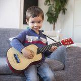 Deluxe Kinder Gitarre, natur, aus Holz, von New Classic Toys