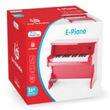Rotes E-Piano für Kinder, aus Holz, von New Classic Toys