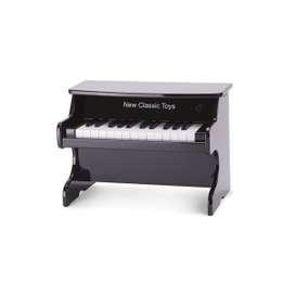 Schwarzes Kinder E-Piano, aus Holz, von New Classic Toys