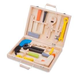 12-teiliges Werkzeugset, aus Holz, von New Classic Toys