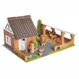 Steinbaukasten, Bauernhof mit Figuren, ab 6 Jahren, von teifoc
