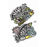 Malvorlagen für Kinder, Samtbilder  Fische , ab 3 Jahren, von Djeco