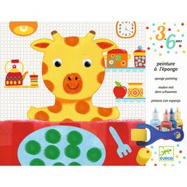 Kreativset für Kinder, Malset  Schwammtechnik  , ab 3 Jahren, von Djeco