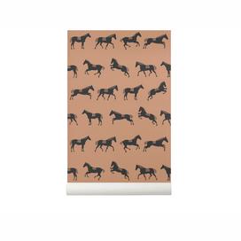 Kindertapete Pferd, in beige braun, von Ferm Living