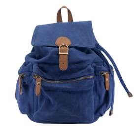 Schlichter, funktionaler Rucksack, in Royal Blau, 100% Baumwolle, von sebra