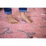 Teppich  English Garden , 140 x 210 cm, in ash rose, waschbar, Lorena Canals