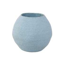 """Aufbewahrungskorb """"Bola , in aqua blau, aus Baumwolle, 30 x 30 cm, von Lorena Canals"""