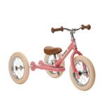 2- in-1 Laufrad Trybike Steel, in vintage pink, ab 1,5 Jahren, von Trybike