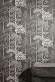 Tapete,  Bäume  by Katie Scott Wallpaper, in braun/grau, von Ferm Living