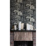 Tapete,  Bäume  by Katie Scott Wallpaper, deep petrol, von Ferm Living