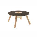 Kindermöbel, runder Tisch mit Aufbewahrungsfach, aus Holz, 55,5 x 30 cm, von Plantoys