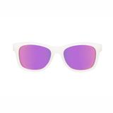 UV Sonnenbrille,  The Trendsetter , in   transparent mit lila verspiegelten Gläsern , für Babys und Kleinkinder, in zwei Größen, Babiators