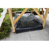 Exit Abdeckplane, Zubehör für Sandkasten Holzspielhaus Loft und Crooky 500-750, schwarz, von Exit Toys