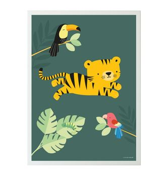 Kinderposter,  Tiger , 50 x 70 cm, von A Little Lovely Company