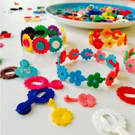Der Kult aus den 70ern  Breba Flowers Mini  zum Gestalten von Schmuck & Accessoires,100 Stück, OMM Design