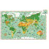 """Wimmelpuzzle """"Weltreise"""", 200 Teile, inklusive Booklet, ab 6 Jahren, von Djeco"""
