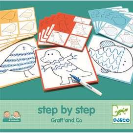 Kreativset für Kinder, Lernspiel Step by Step  Graf und Co  , von Djeco