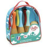 Garantierter Spielspaß, zweifarbiges Bowling Set, aus Holz, von Vilac