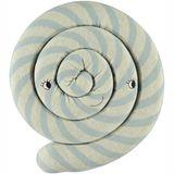 Zauberhaftes Strickkissen, Lollipop, in blau, 30 cm Durchmesser, von OYOY