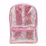 Cooler Rucksack, Glitzer transparent rosa, von A Little Lovely Company