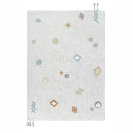 Teppich  Kim , 140 x 200 cm, elfenbein mit Pastelltönen waschbar, Lorena Canals