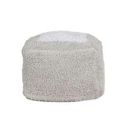Quadratisches Sitzkissen Bodenkissen, Pouf  Marshmallow , Pyjama Party, in grau, 18 x 30 x 39 cm, von Lorena Canals