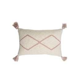 Kuschelkissen  Little Oasis , 25 x 40 cm, aus Baumwolle, natur blassrosa, von Lorena Canals