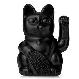 Dekorative große Winkekatze  Lucky Cat , in Schwarz, Elegance and Tranquility, 41 cm, von Donkey
