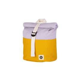 Rucksack mit Rollverschluss, Colourblock gelb und hellviolett, wasserabweisend, 1-4 Jahre, von Blafre