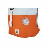 Rucksack mit Rollverschluss, Colourblock orange und hellblau, wasserabweisend, 3-7 Jahre, von Blafre
