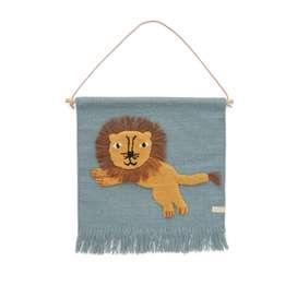 Wanddekoration, Wandbehang  jumping lion , 55 x 52 cm, von OYOY