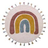 """Wunderschöner Kinderteppich """"Regenbogen"""",  aus Baumwolle, 110 cm Durchmesser, von Nattiot"""