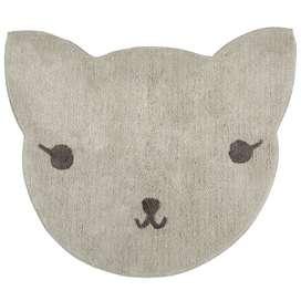 Kinderteppich  Lilou , 100% Baumwolle, grau, maschinenwaschbar, 85 x 100 cm, von Nattiot
