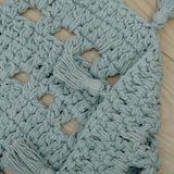 """Hochwertiger Teppich """"Nila , handgehäkelt, in mintgrün, 120 cm Durchmesser, aus Baumwolle, von Nattiot"""