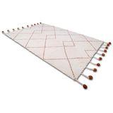 """Wunderschöner Teppich """"Tanvi"""",  100% Baumwolle, natur bernstein, 110 x 170cm Durchmesser, von Nattiot"""