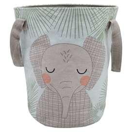 """Aufbewahrungskorb Elefant """"Junko"""", 100% Baumwolle, 30 x 40 cm, von Nattiot"""