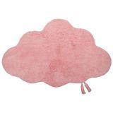 Kinderteppich Wolke  Kumo , in rosa, 100% Baumwolle, maschinenwaschbar, 70 x 110 cm, von Nattiot