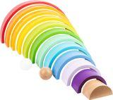 Wunderschöner XL Motorik Regenbogen, aus Holz, von Legler