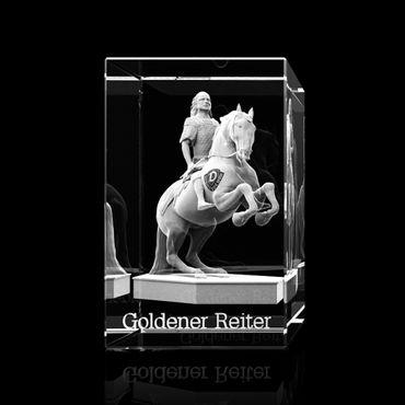 Glasquader Goldener Reiter